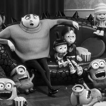 Gru the girls and Minions